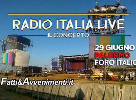 Palermo. Sabato 29 il concerto di Radio Italia al Foro Italico: ecco i nomi degli artisti e i divieti del traffico