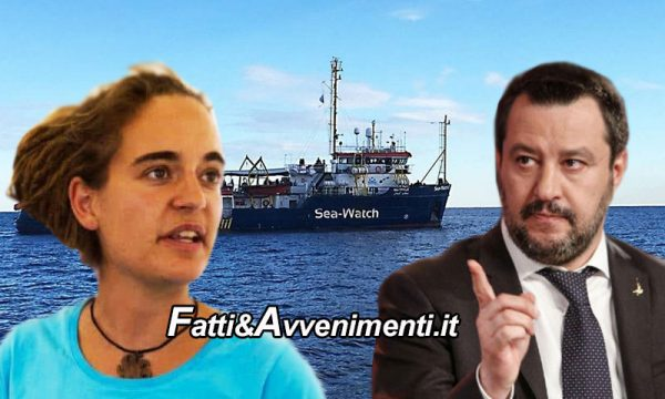 """SeaWatch 3 in acque italiane, Salvini: """"Ne risponderanno Ue, Olanda e Germania, chi sbaglia paga!"""" – VIDEO"""