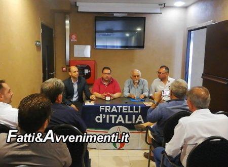 """Sciacca. Sindaco Valenti (Pres. ATI) dispone pagamento idrico a forfait per Raffadali e Favara, FdI: """"Paradossale e disparitario"""""""