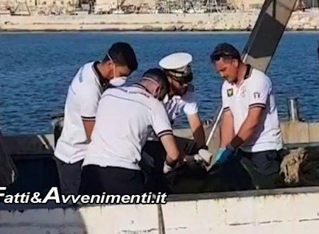 """Sciacca. Cadavere resta impigliato nelle reti di un peschereccio: """"Forse un migrante morto in mare"""""""