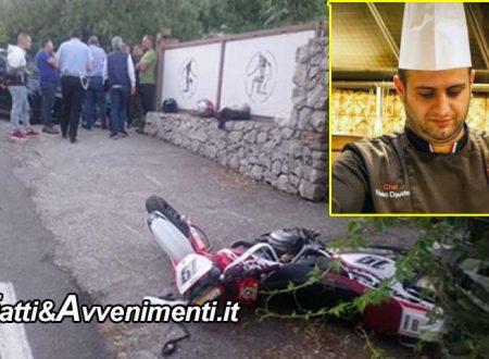 Taormina (ME). Scontro auto moto, perde la vita uno chef 33enne