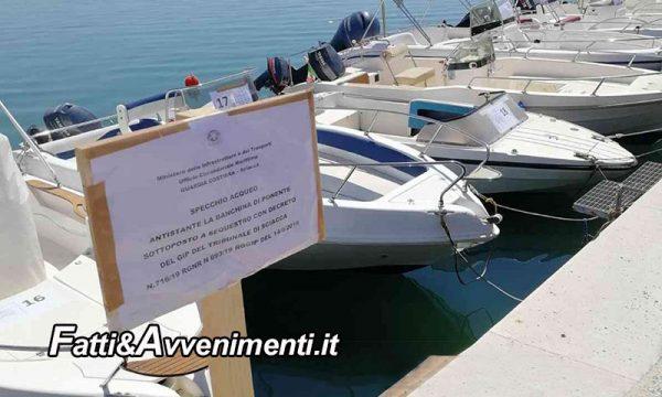 Menfi. Sequestrato l'intero specchio acqueo della banchina di ponente di Porto Palo… barche comprese