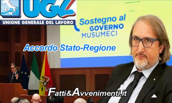 Finanza pubblica, Accordo Stato-Regione. Messina (Ugl): basta polemiche, dalla politica sostegno leale a Musumeci