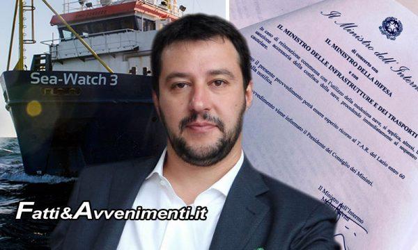 Salvini firma il Divieto di ingresso per la Sea Watch3: Tripoli offre porto, la Ong rifiuta e UE l'appoggia