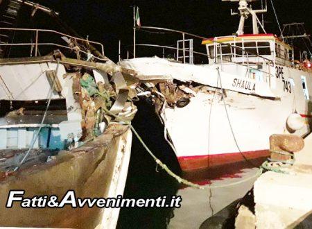 Sciacca. Collisione in mare tra un peschereccio di Sciacca e uno di Porto Empedocle: indagini in corso