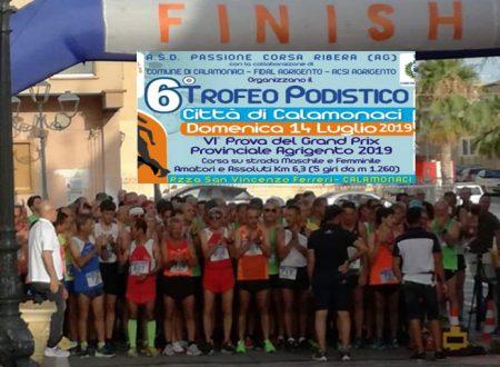 Calamonaci. 110 i podisti che ieri hanno partecipato alla sesta edizione del Trofeo Podistico cittadino