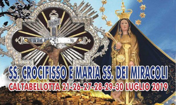 Caltabellotta. Festa SS. Crocifisso e Maria SS. dei Miracoli con la tradizionale 'processione dell'oro': ecco il programma