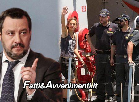 """Sea Watch. Gip Agrigento non convalida l'arresto della Rachete ed è libera: Salvini """"pronta l'espulsione"""""""