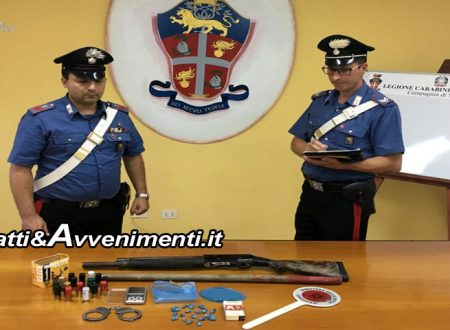 Villafranca (AG). Carabinieri Sciacca sequestrano fucile a canne mozze e cocaina: 25enne in carcere