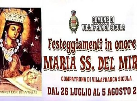 Villafranca Sicula. Festa Madonna del Mirto culto secolare fra tradizione e innovazione: ecco il programma