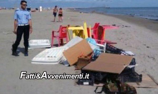 Sciacca. Controlli polizia municipale nelle spiagge: sequestrati DVD senza marchio Siae e merce contraffatta