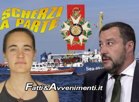"""Sea Watch3. Parigi conferisce a Carola Rackete la medaglia D'Onore. Salvini: """"Siamo su scherzi a parte?"""""""