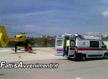 Realmonte (AG). Scontro auto scooter: gravissimo il motociclista trasferito in elisoccorso