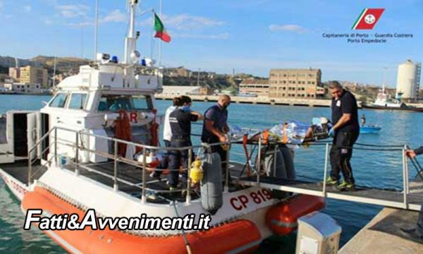 Sciacca. Guardia costiera salva un Barchino con 19 clandestini che rischiava di affondare davanti la costa
