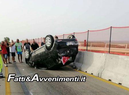 Menfi. Giovane menfitano cappotta con l'auto su viadotto della SS 115 Sciacca-Menfi