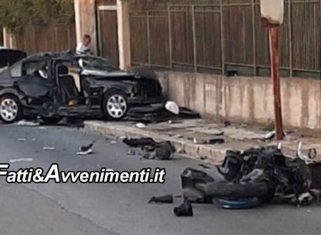 Terrasini (PA). Scontro auto-moto: perde la vita 38enne, ferite 2 donne di cui una incinta e un bimbo