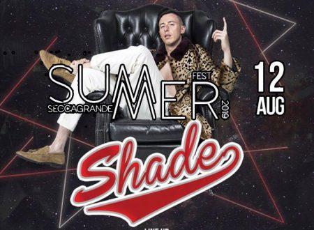 Seccagrande. 12 Agosto arriva SHADE il suo brano è Disco D'oro 2019 con 14 milioni di visualizzazioni