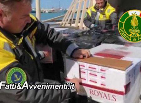 Tre Fontane (TP). Contrabbando sigarette: Sequestrati 2 pescherecci, 6,5 tonnellate di bionde e 9 arresti