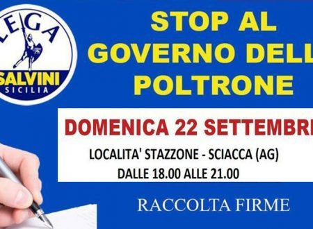 """Sciacca. Lega Salvini: domenica 22 gazebo allo Stazzone  raccolta firme contro il """"Governo delle Poltrone"""""""