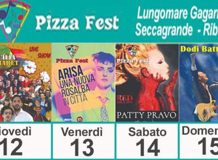 """Ribera. Da domani al via il Pizza Fest: si inizia con """"Sicilia Cabaret"""" poi Arisa, Patty Pravo e Dodi Battaglia"""