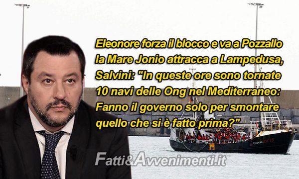 Migranti. Sbarcano tutti: Eleonore e Mare Jonio. 10 navi Ong tornano nel Mediterraneo: effetto governo Pd M5s?