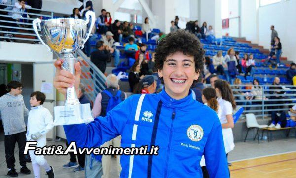 Sciacca, Scherma. Ottavo posto per T. Rossi della Discobolo alle finali nazionali Trofeo Coni Kinder+Sport (U 14)
