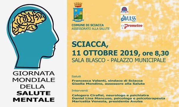 Sciacca. Giornata mondiale della salute mentale, iniziativa  venerdì 11 nella Sala Blasco del Comune
