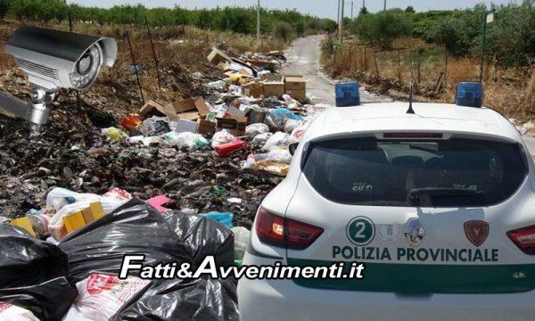 Abbandono rifiuti, Polizia Provinciale AG. In arrivo 5 nuove fotocamere per beccare gli incivili