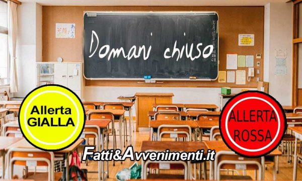 Agrigentino, per maltempo domani scuole chiuse in molti comuni: ecco quali