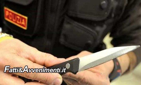 Sciacca. 46Enne minaccia la moglie, rintracciato dalla polizia viene trovato con coltello a serramanico: denunciato