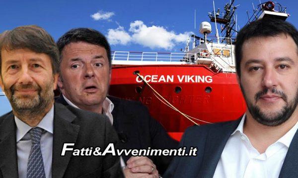 """Ocean Viking sbarca a Pozzallo con 104 migranti, Salvini: """"Inaccettabile calata di braghe del governo"""""""