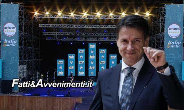 """Il Premier Conte dal palco 5 stelle: """"No ai porti chiusi, daremo lavoro a migliaia di africani"""" e Salvini """"gongola"""""""