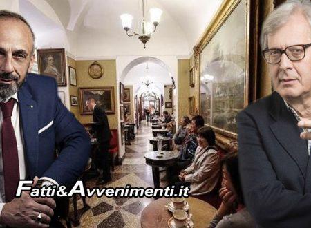 Roma. Domani sfratto dello storico Caffè Greco, i critici Sgarbi e Battaglia La Terra Borgese in difesa