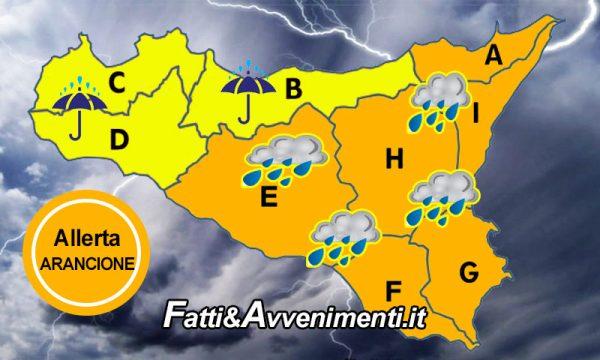 """Sicilia. Meteo: allerta """"Arancione"""" per domani 24 novembre in tutta l'isola, """"Gialla"""" nel palermitano e trapanese"""