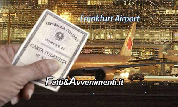 Agrigentina posta in stato di fermo in Germania per timbro e foto sbiaditi sulla carta d'identità: liberata dal Console