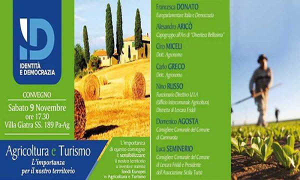 Cammarata (AG). Sabato 9 convegno Agricoltura e Turismo: con l'On. Donato della Lega e l'agronomo Miceli