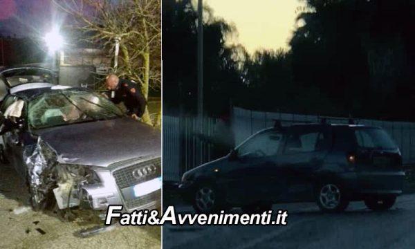 Canicattì. Fiat 500 vola dentro un'azienda e distrugge un'auto parcheggiata: 4 i feriti uno è grave