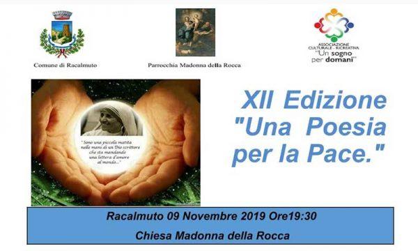 """Racalmuto. XII edizione del concorso poetico""""Una poesia per la pace"""""""