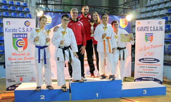 Ad Acicastello (CT), la SAKURA dei maestri Giuffrida conquista 4 vittorie nella 7° edizione dell'Edukarate Cup