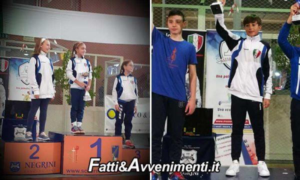 Mazara. 1^ Prova Regionale U14 di scherma: i piccoli atleti locali fanno man bassa di premi e vincono tutto