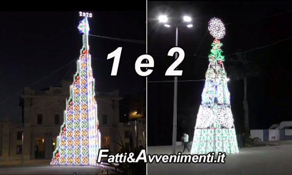 Non 1 ma ben 2 gli alberi di natale che Rocco Forte ha regalato ad Agrigento, a Sciacca neanche una… Stella?