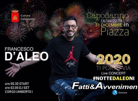 Caltanissetta. Capodanno con concerto in piazza con la webstar Francesco D'Aleo