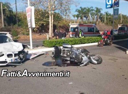Mascali (CT). Coppia su moto travolta da una Bmw: lui muore in ospedale, lei è gravissima