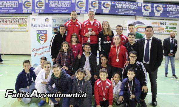 Sciacca. Karate: la Sakura dei Giuffrida al 1° posto nella classifica delle società siciliane al Palacanino di Altofonte