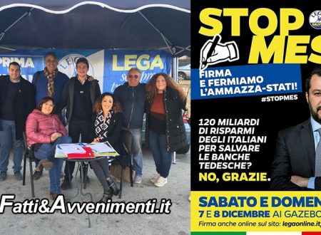 """Sciacca e Ribera. Oggi e domani la Lega Salvini raccoglie le firme per dire """"Stop al MES"""""""