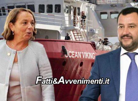 Migranti. Sbarcheranno a Taranto le 162 persone a bordo della Ocean Viking ed è scontro Lamorgese  Salvini