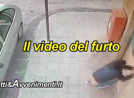 Ribera. Ecco il video dei due arrestati mentre rubano denaro e sigarette dal Tabacchino di via Chiarenza