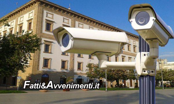Sciacca. Videosorveglianza: consegnati i lavori per installazione nuovo impianto da 20 telecamere