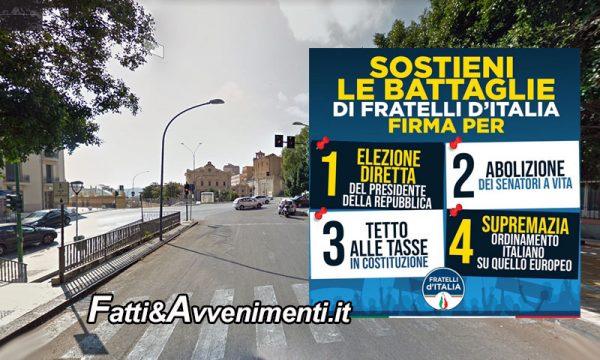 Agrigento. Domani raccolta firme di Fratelli d'Italia a sostegno di proposte di legge di iniziativa popolare