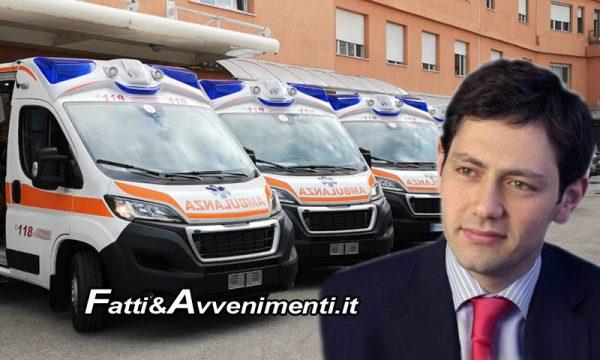 """Sicilia, si rinnova il parco Ambulanze. Ass.re Razza: """"22,5 milioni di euro per 200 nuovi mezzi"""""""